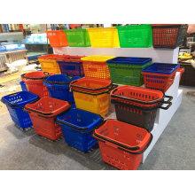 Plastic Rolling Plastic Hand Basket
