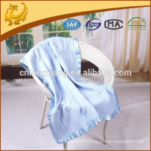 waffle style solid color 100% cotton throw blanket