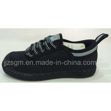 Стальной носок и защитные туфли с холстом