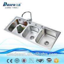 small white kitchen nexstyle design utility 3 compartment bar sink