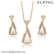62907-Xuping Online Artificial Jewellery Brass Earring Pendant Sets