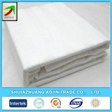 wholesale hotel use satin stripe white fabric