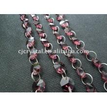 India Crystal Strings Cuentas, cuentas de cristal octogonal