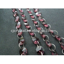 Индия Кристалл Струны Бусины, восьмигранные хрустальные бусины