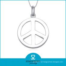 Colar da jóia da prata esterlina da forma 925 da paz (SH-J0135)