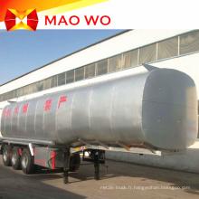 Nouvelle remorque de réservoir de carburant en acier au carbone 50000 litres