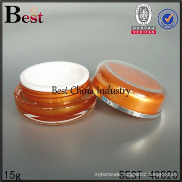 hot selling 15g acrylic cylinder cosmetic face cream container