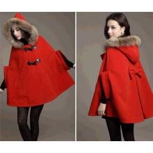 Мыс пальто зима мода свободной летучей мыши рукав Женская (50031)