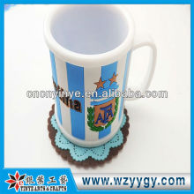 Fashion promotional souvenir mug with rubber cover