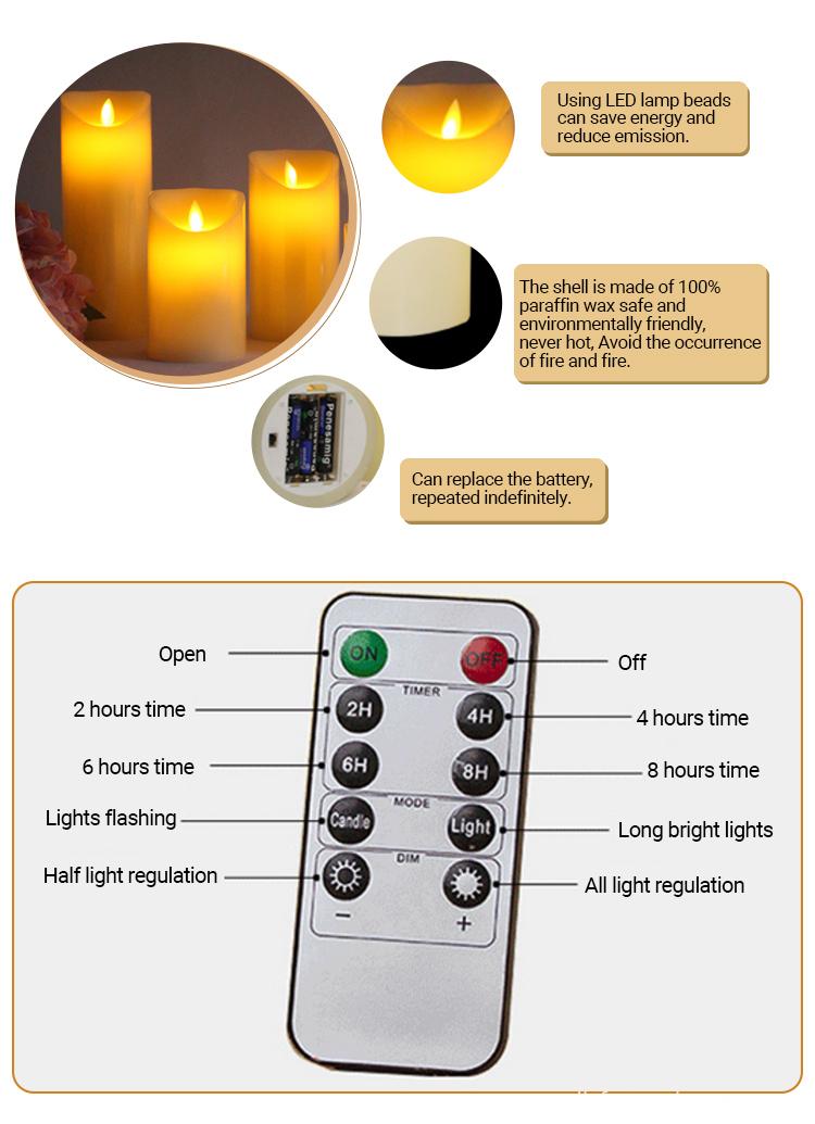 4 LED Candles