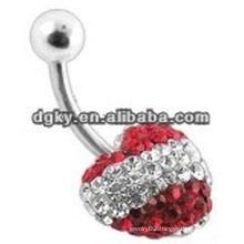 Body piercing floating belly rings jewelry