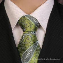 Gravata de Jacquard de seda 100% artesanal