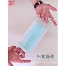Mascarilla desechable quirúrgica de 3 capas de tela no tejida