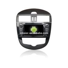 Quad core! Dvd del coche con espejo enlace / DVR / TPMS / OBD2 para la pantalla táctil de 7 pulgadas de cuatro núcleos 4.4 sistema Android Tidda