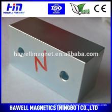 Bloquear ímã com furos / N35 n38, n42 para ímã separador magnético