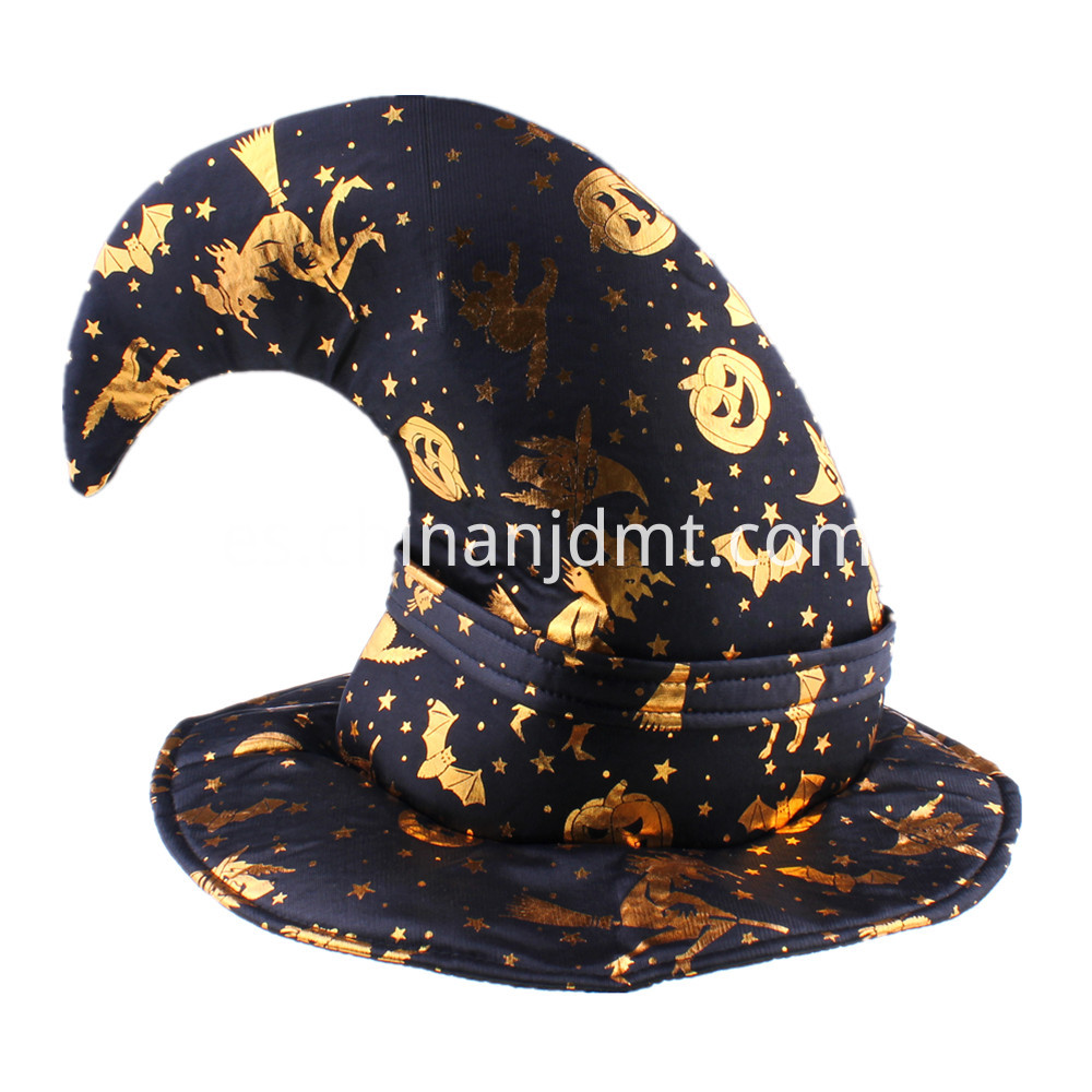 Glittering prints witch hat
