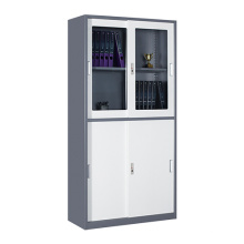 2018 new design narrow side sliding door metal filing cabinet