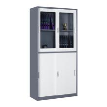 2018 novo design estreito lado deslizante porta armário de metal