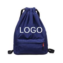 Trendy travel nylon drawstring backpack
