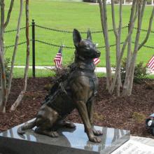 Escultura de cão de bronze animal de tamanho de vida de alta qualidade