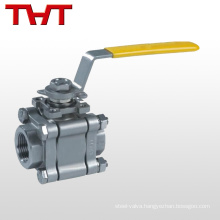 three piece 3 inch stainless steel floating ball valve