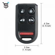 Best price remote key shell for Honda 4+1 button remote key shell YS200004