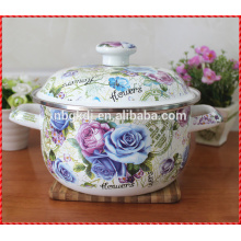customized printed casserole Chinese enamel pot