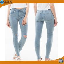 Jeans taille haute en jean taille haute femme déchirée