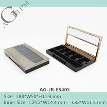 Five Grid Rectangular Eye Shadow Case With Mirror&Window AG-JR-ES405, AGPM Cosmetic Packaging , Custom colors/Logo