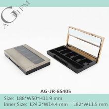 Пять сетки прямоугольные Eye Shadow дело с зеркало & окно AG-JR-ES405, AGPM косметической упаковки, Эмблема цветов