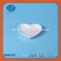 Plat en forme de coeur en porcelaine, plat en céramique, plat coeur, plat en céramique