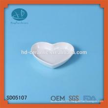 porcelain heart shape dish,ceramic snack dish,heart shape dish,ceramic dish