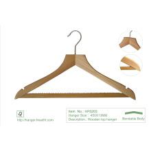 Roupas de madeira Regular naturais do vestuário Laudry cabides