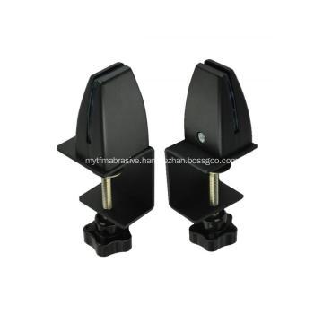Black Adjustable Aluminium Table Clamp For Acrylic Panel