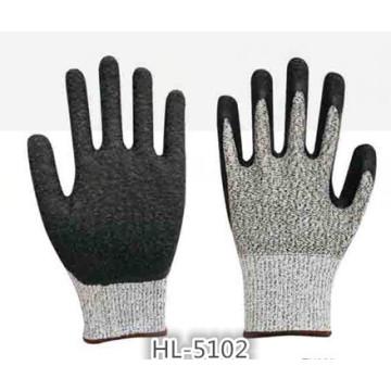 Вырезать сопротивление 3/5 латекса Palm покрытие перчатки