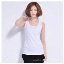 Las mujeres venden al por mayor el algodón llano / las camisetas sin mangas del Spandex / chalecos /