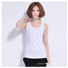 Women Wholesale Plain Cotton/Spandex Tank Tops/Vests/Singlet