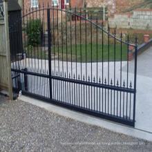 Venta caliente hermoso diseño de hierro forjado puerta corrediza