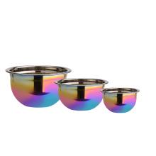Mirage Rainbow Surface Conjunto de tigela de aço inoxidável