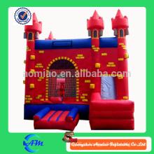 Alta qualidade vermelho castelo inflável bouncr inflável slide combo
