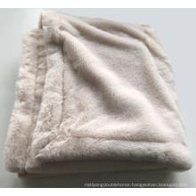 wholesale luxury double layer faux rabbit fur blanket