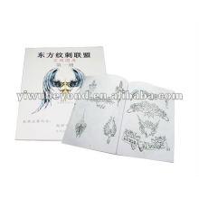 Libros tatuaje plantilla