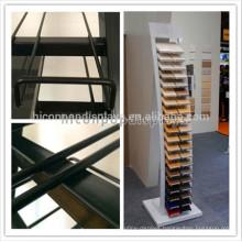 Metal Material Customized Stone Sample Floor Display Granite Stone Tile Display Rack For Stores Or Showroom