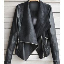 Winter Women Coat Motorcycle PU Leather Jacket
