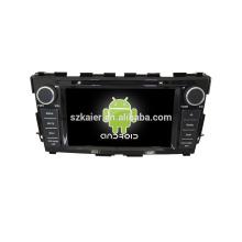 Quad core! DVD de coche con enlace de espejo / DVR / TPMS / OBD2 para pantalla táctil de 8 pulgadas de cuatro núcleos Sistema Android 4.4 NISSAN TEANA
