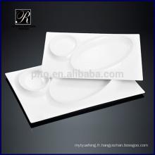 Cuisine design chaud Vaisselle en céramique Rectangle plaque soleil lune lac
