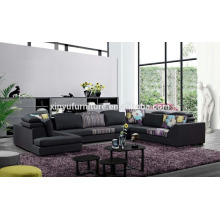 Latest Black comfortable sectional sofa designs KW1511