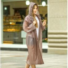 Fashion Design Women′s Full Length Reusable Raincoat