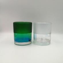 Tarro de cristal de vela de gran tamaño con acabado de color mate.