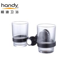 Медный стеклянный коричневый держатель для двойных стаканов